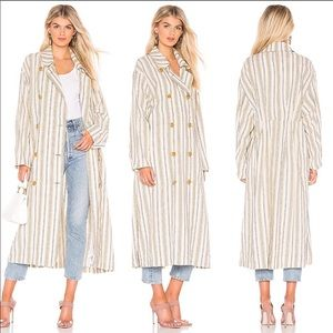 NEW • Free People • Sweet Melody Trench Natural